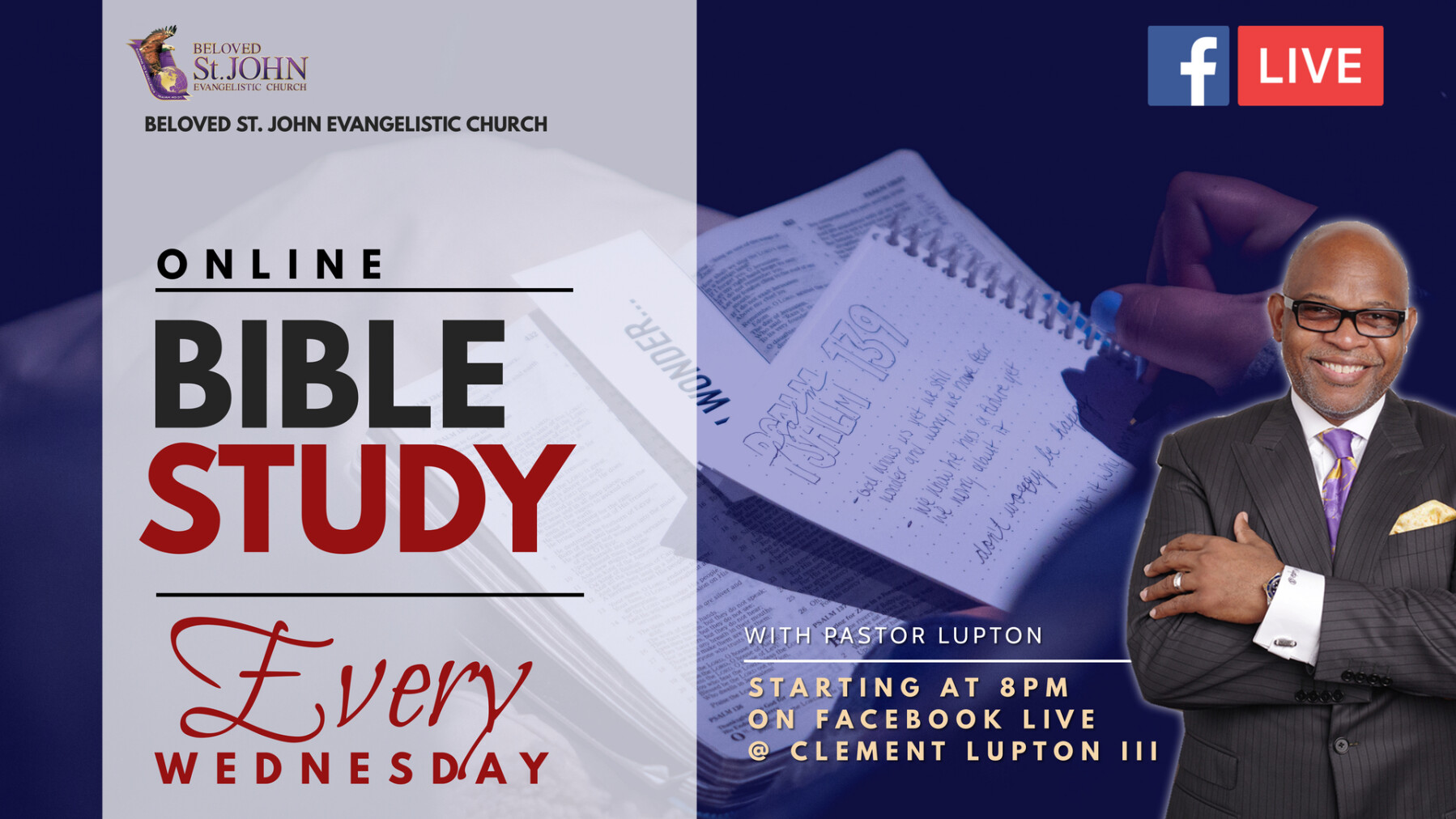 WEEKLY BIBLE STUDY ON FACEBOOK