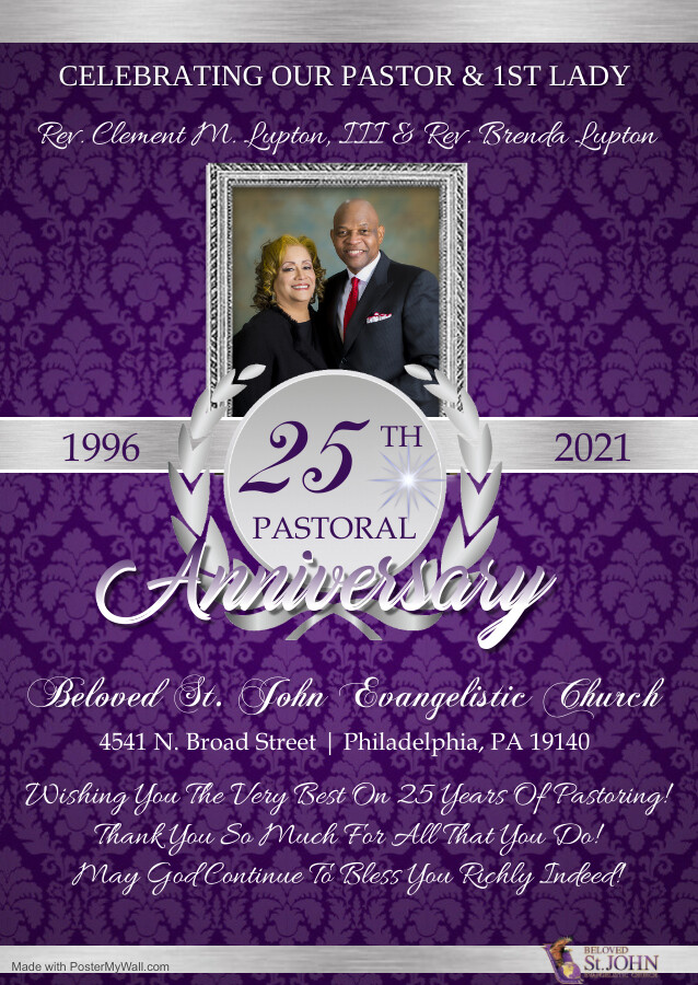 25TH PASTORAL ANNIVERSARY